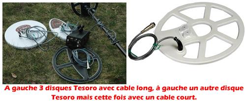 disque de detecteur de metaux avec un cable trop court