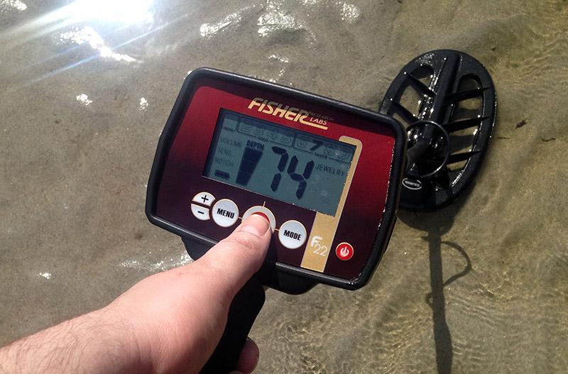 utilisation du detecteur de metaux fisher F44