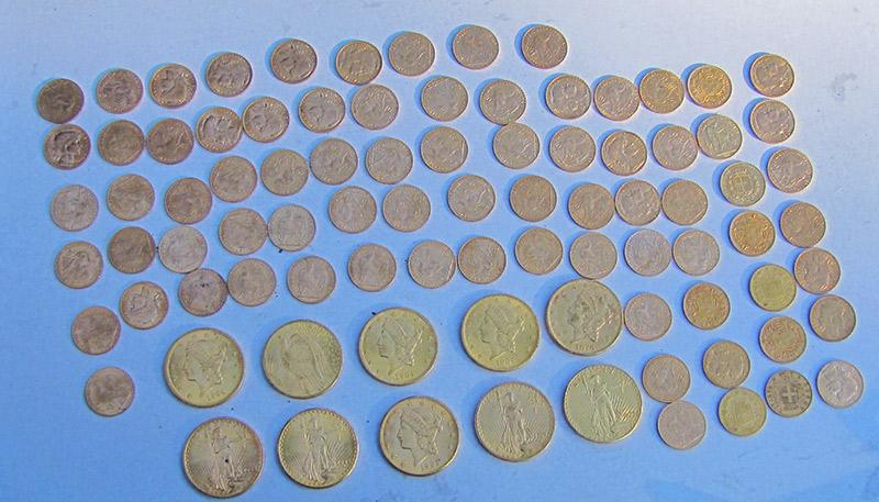 monnaies en or trouvé au detecteur de metaux technetics