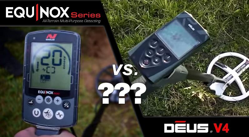 le detecteur de metaux equinox de minelab contre le deux de chez XP