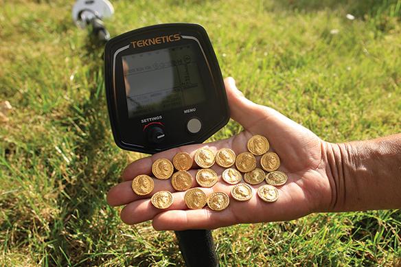 Trésor de monnaies en or trouvé avec T2 UPG