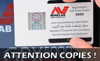attention aux copies des détecteurs de métaux
