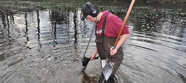 extracteur à manche pour la plage ou la rivière riviere