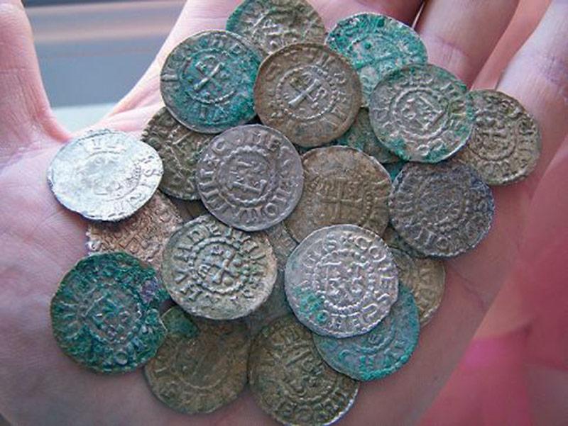 monnaie d'gherbet 1er découvertes dans la sarthe avec un détecteur de métaux