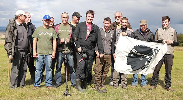 L'équipe du Fouilleur au Rallye anglais Week end Wanderer en 2014