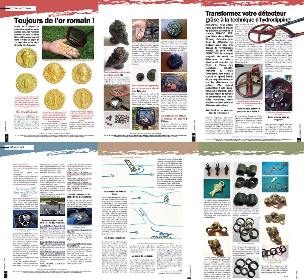 sommaire et edito magazine détecteur de métaux le fouilleur