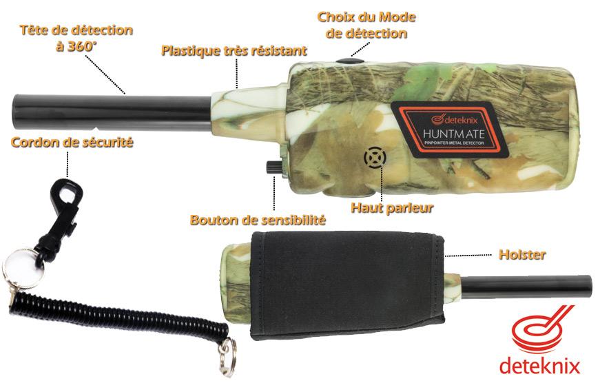 reglages du pinpointer détecteur Huntmate