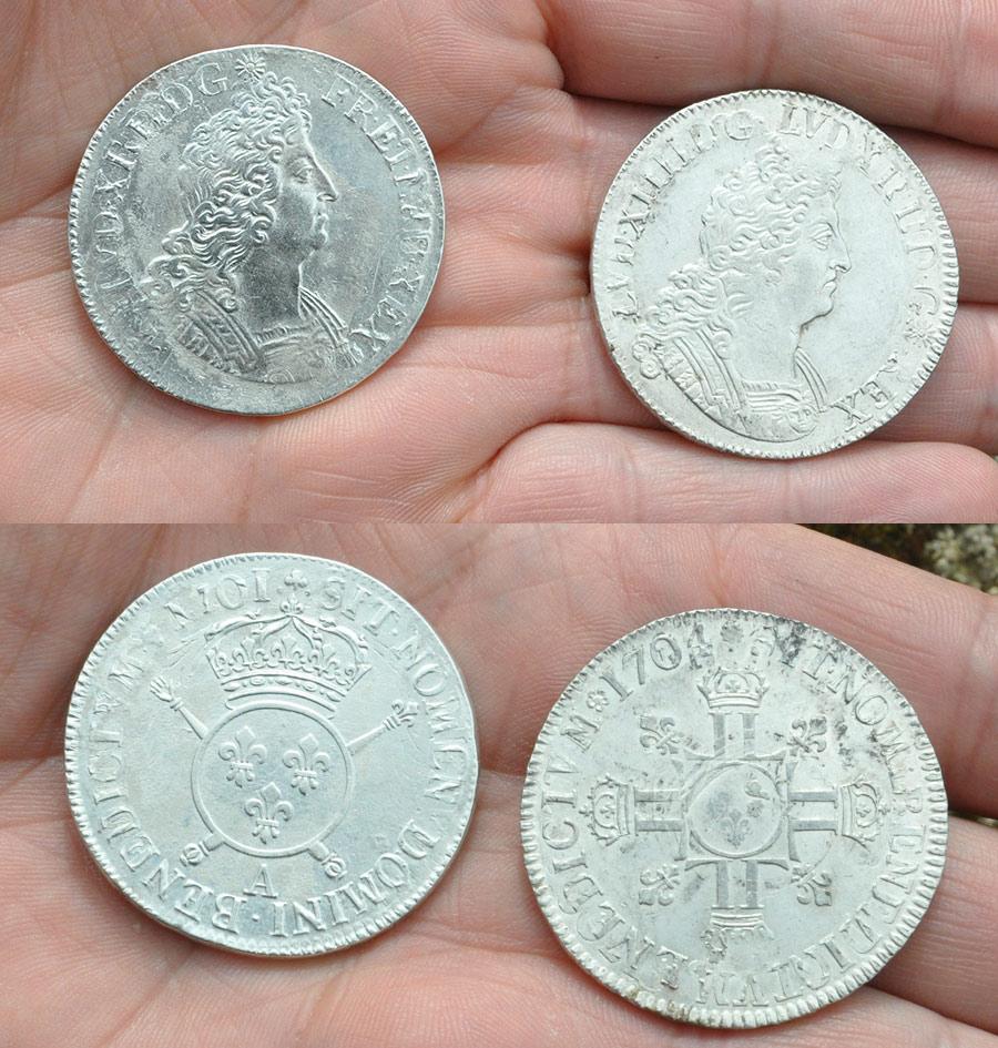 monnaie en argent royale ecu louis XIV