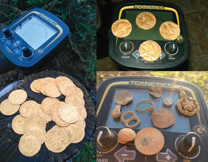 monnaies or trouvées avec teknetics g2