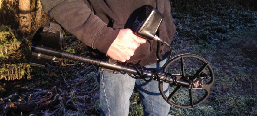 canne telescopique pour détecteur de métaux