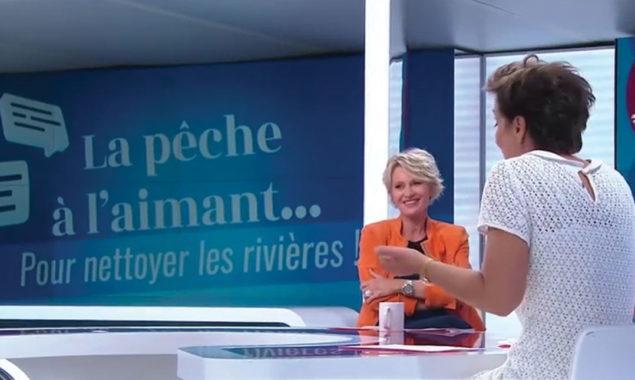 Emission TV peche à l'aiamnt avec Sophie Davant