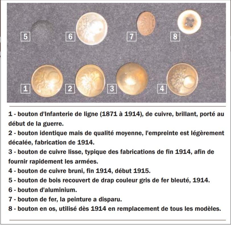 descriptif des boutons de poilus