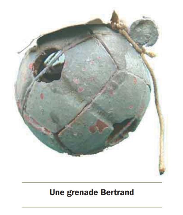 la grenade bertrand en militaria