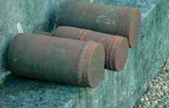 douille d'obus trouvé dans un champ