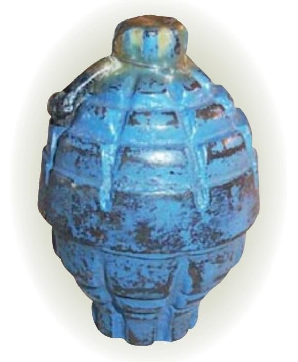 grenade de la première guerre mondiale en militaria