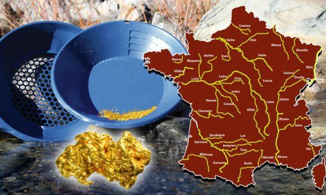 Quelles sont les rivières ou il y a de l'or en France