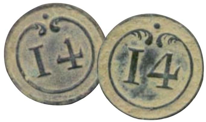 bouton du 14 eme régiment d'infanterie