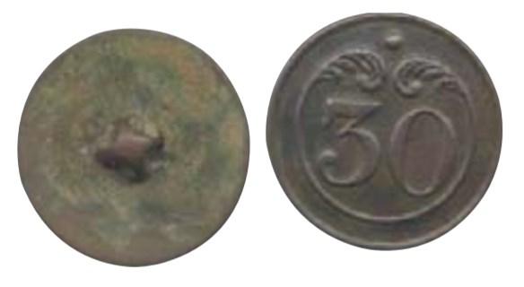 bouton du 33 eme régiment d'infanterie