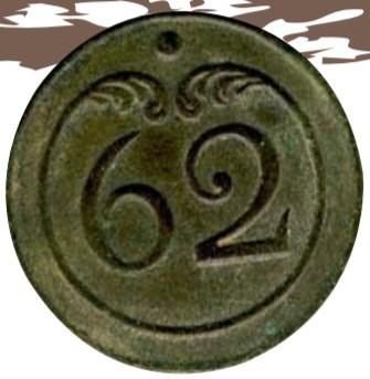 bouton du 62 eme régiment d'infanterie