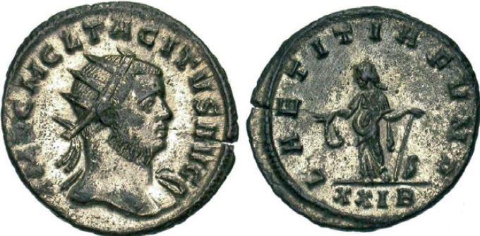 Antoninien de Tacite avec laetitia au revers