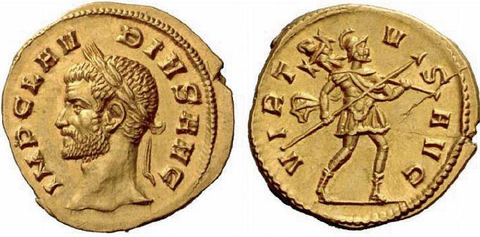 Aureus de Claude II le Gothique