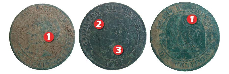 nettoyage d'une monnaie napoleon 3 en bronze à la dremel