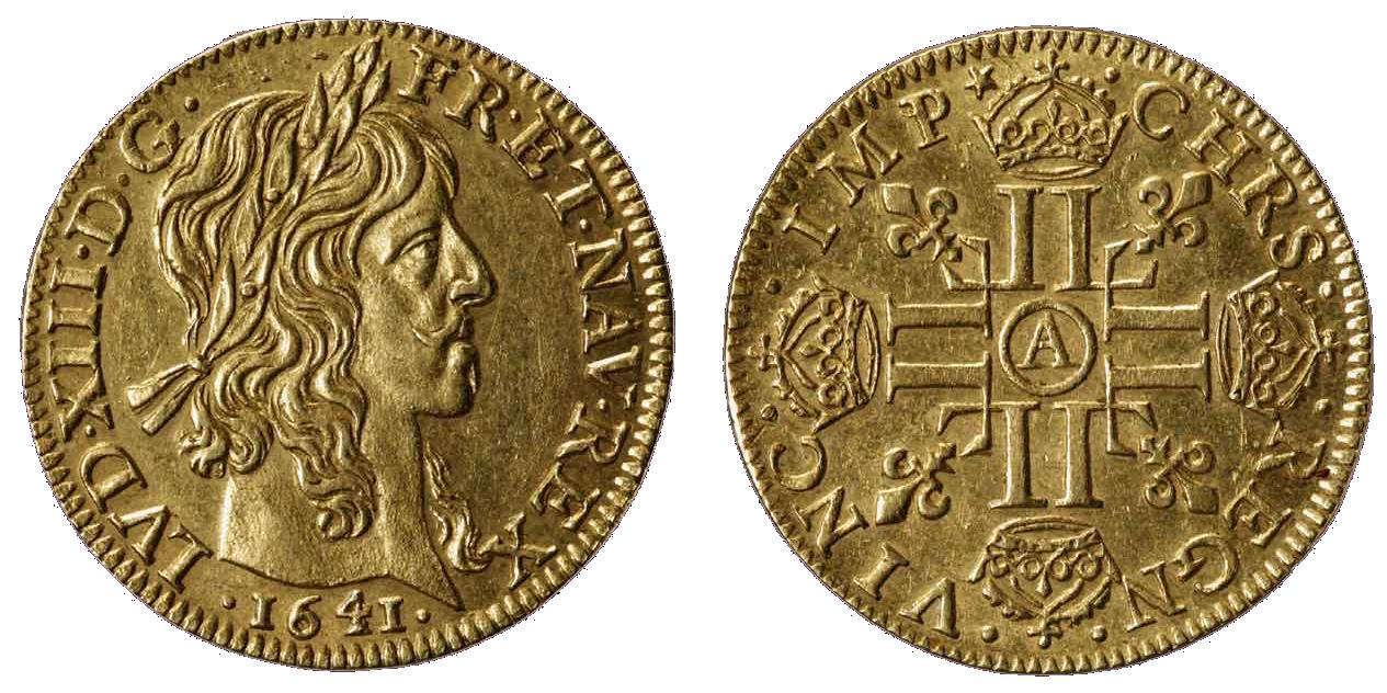 monnaie louis XIII en or