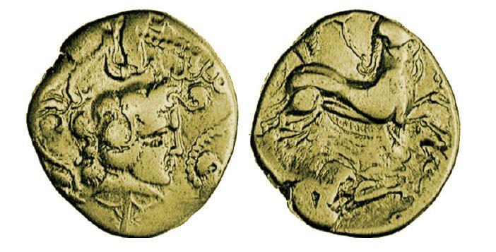 statère en or gauloise des Vénètes
