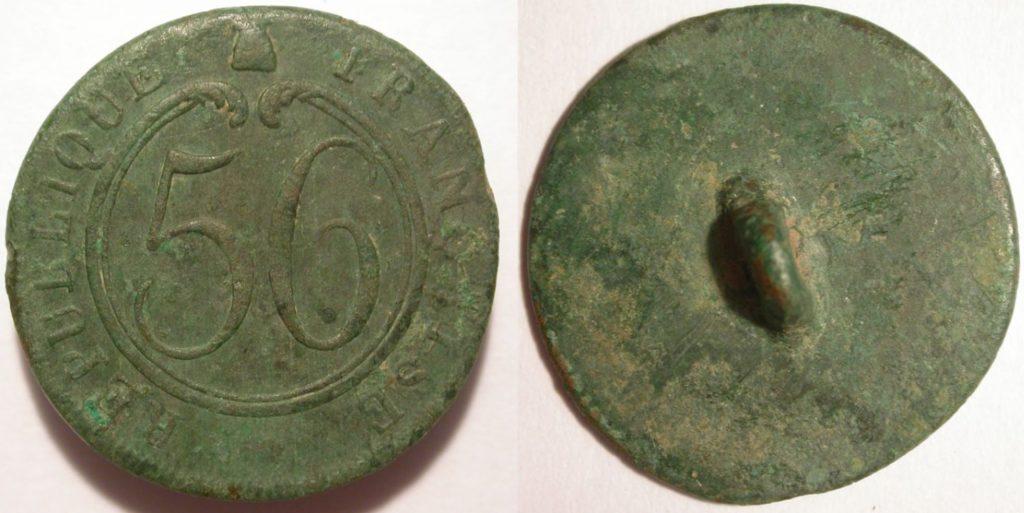 bouton du 56 eme régiment d'infanterie