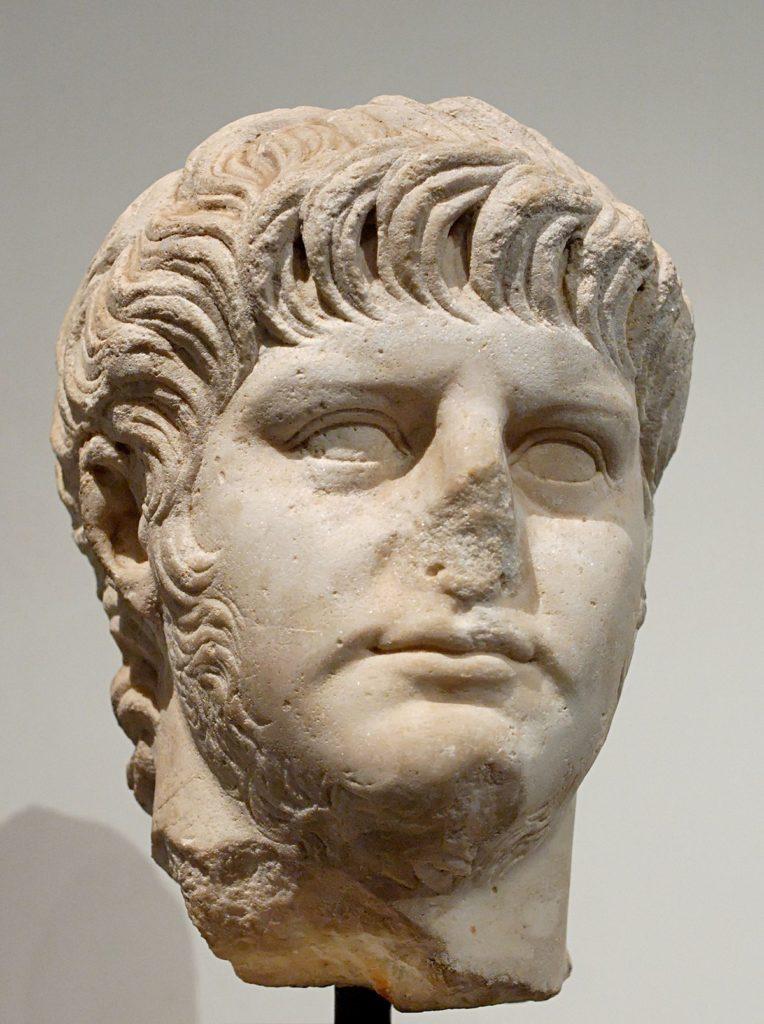 Buste de Néron visible à l'Antiquarium du Palatin