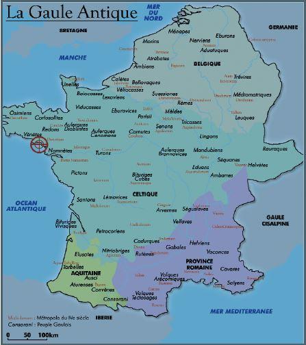 carte française de la gaule antique