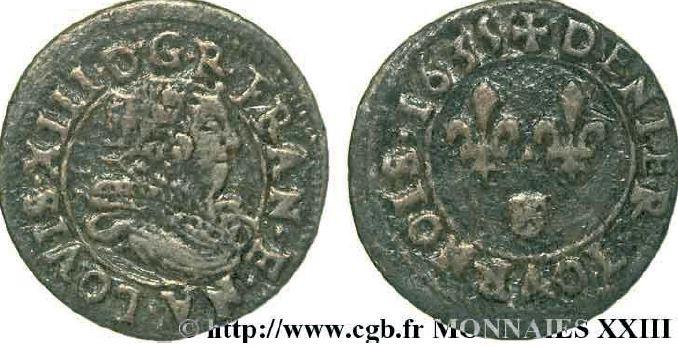 Denier tournois de Navarre sous LOUIS XIII