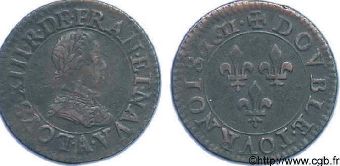 Double tournois, buste enfantin sous LOUIS XIII