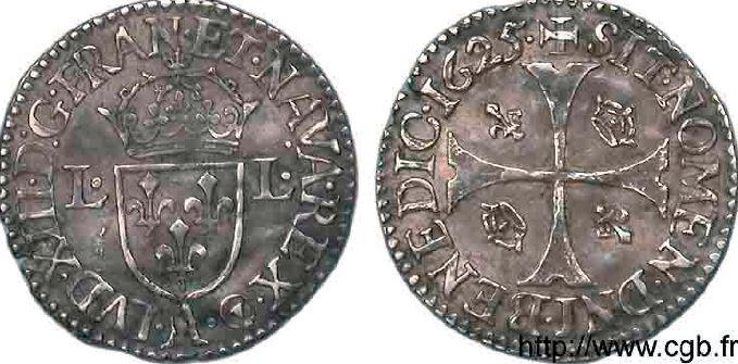 Douzain d'argent frappé au moulin sous LOUIS XIII