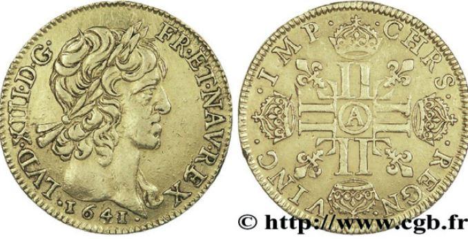Louis d'or type Warin sous LOUIS XIII