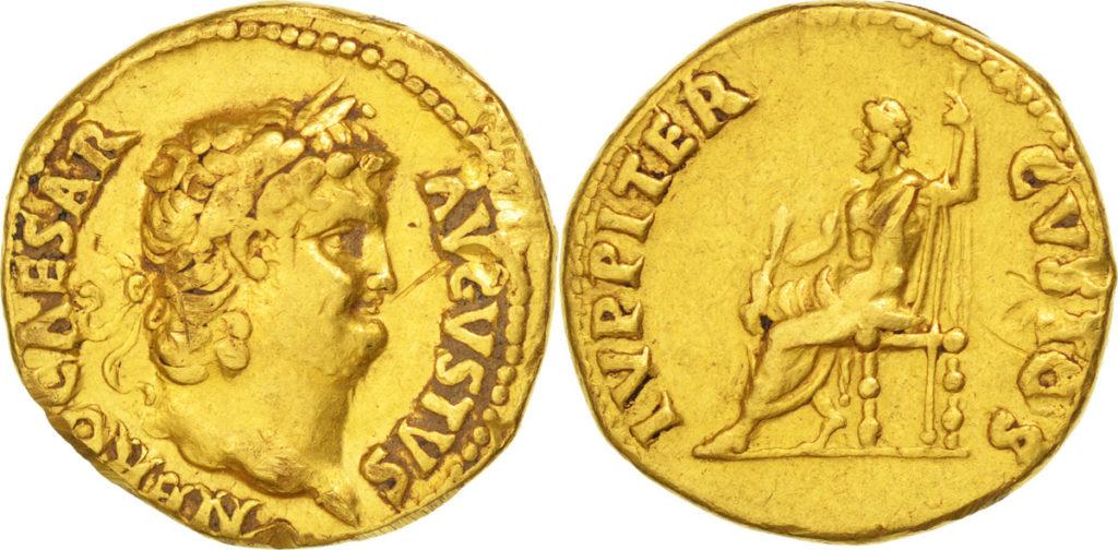 monnaie romaine en or aureus de neron