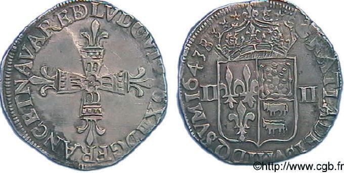 1/4ème d'écu de Béarn sous LOUIS XIII