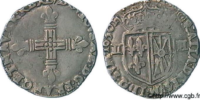 1/4ème d'écu de Navarre sous LOUIS XIII