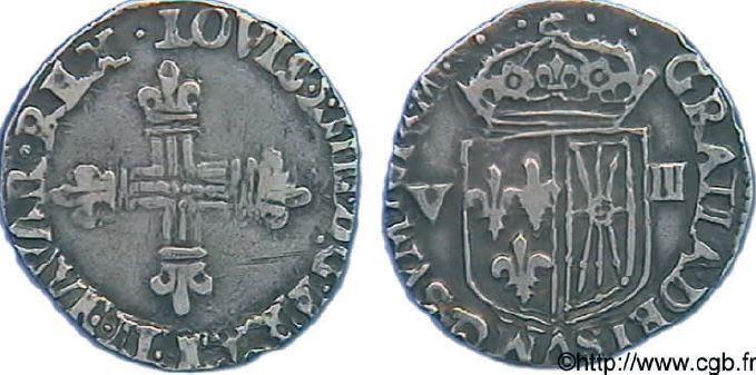 1/8ème d'écu de Navarre sous LOUIS XIII