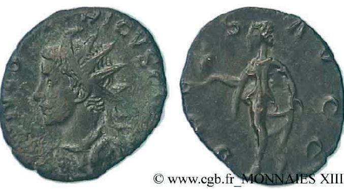 Antoninien de Tétricus II Diamètre : 19 mm, poids : 2,90 g, métal : bronze ou billon
