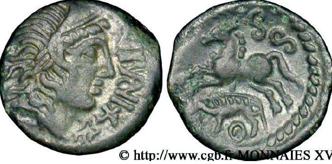 Bronze IBRVIXS au cheval et au sanglier (50-40 avant J.-C.)