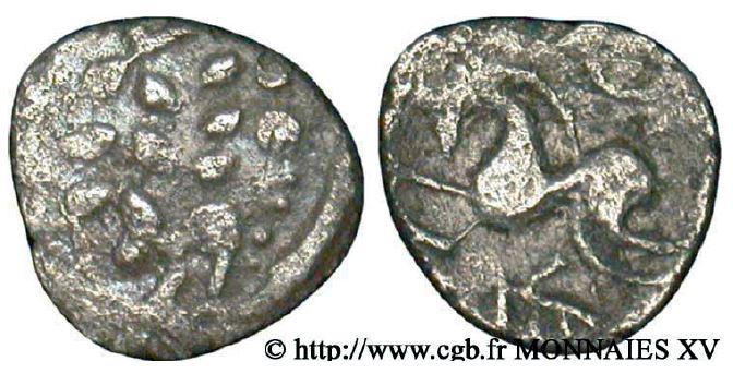 Aulerques Eburovices Denier scyphate au cheval et au sanglier (50-40 avant J.-C.)