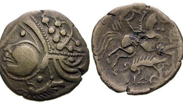 Aulerques Eburovices Hémistatère au sanglier (60-50 avant J.-C.)