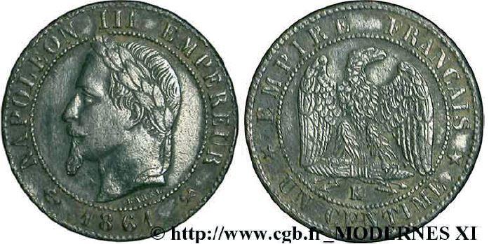 1 centime, tête laurée napoléon III