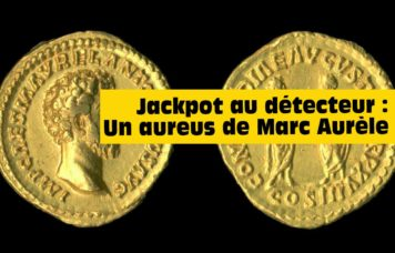 un detecteur de metaux trouve une monnaie en or romaine
